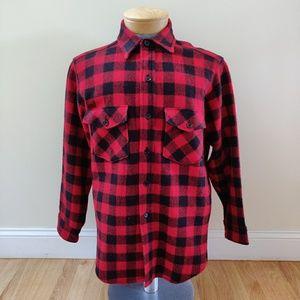 Vintage LL Bean Wool Flannel Shirt Button Buffalo